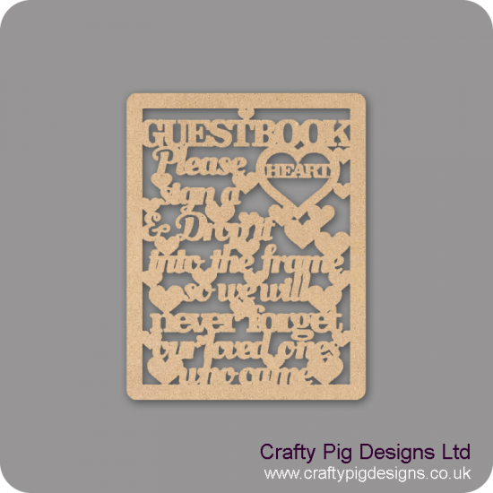 3mm MDF Wedding guest Book Sign For the Ladies