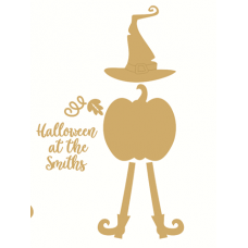 3mm Halloween at the Hanging Plaque with Hat and Legs (Separate pieces) Halloween