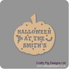 3mm MDF Halloween at the (anyname) hanging Pumpkin Halloween