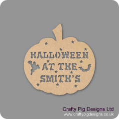 3mm MDF Halloween at the (anyname) hanging Pumpkin