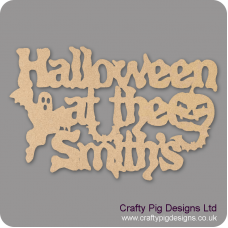 3mm MDF Halloween at the (anyname) hanging sign Halloween