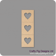 3mm mdf Heart Photo Frames - set of 3 Basic Plaque Shapes