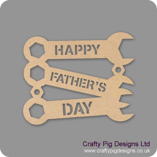3mm Happy Father's Day Trio Of Spanners Fathers Day
