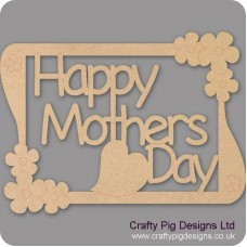 3mm MDF Happy Mothers Day Plaque style 2 Mother's Day