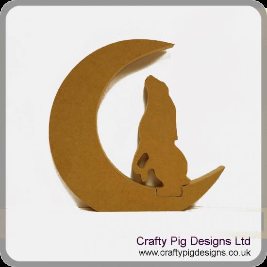 18mm Moon With Interlocking Hare 18mm MDF Interlocking Craft Shapes