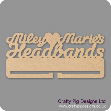 4mm MDF Personalised Headband Holder Personalised and Bespoke