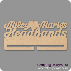 4mm MDF Personalised Headband Holder