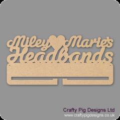4mm MDF Personalised Headband Holder Personalised and Bespoke
