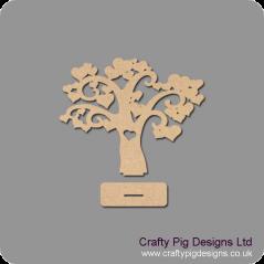 3mm MDF Freestanding Love Hearts Tree (New) Trees Freestanding, Flat & Kits