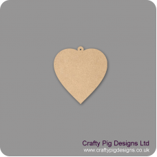 3mm MDF Heart With Hoop (pack of 10) Hearts