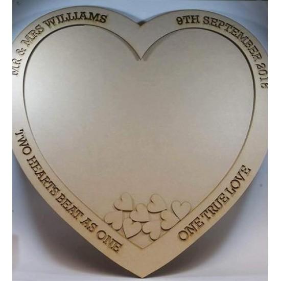 MDF Wedding Heart Drop Box 60x60cm Personalised and Bespoke