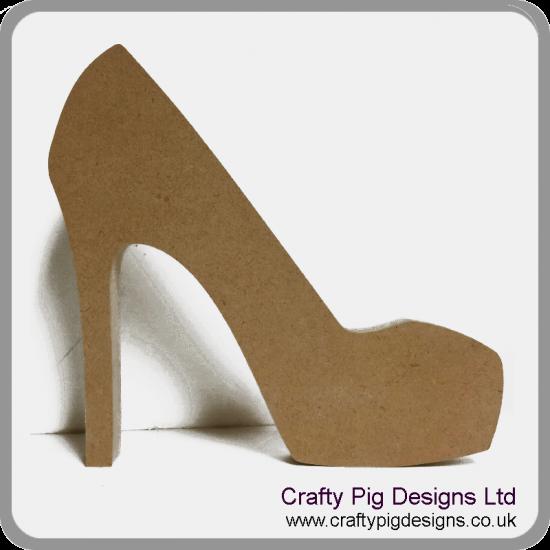 18mm High Heel Shoe 18mm MDF Craft Shapes