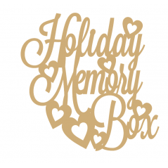 3mm MDF Holiday Memory Box Topper 250x250mm Box Toppers