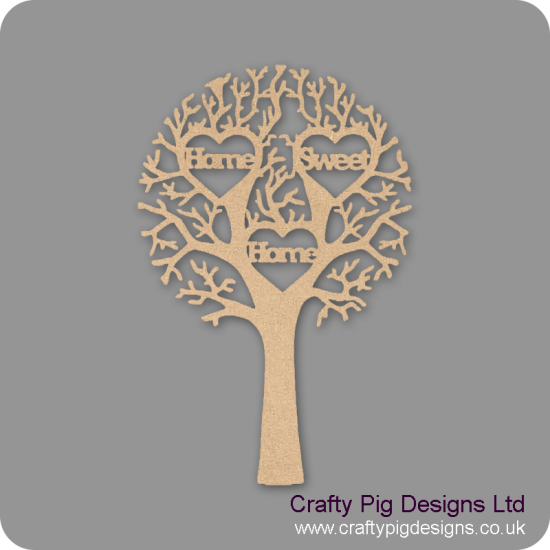 """3mm MDF """"HOME SWEET HOME"""" - Cut Out Tree  Trees Freestanding, Flat & Kits"""