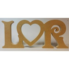 18mm Freestanding Initials And Open Heart Design