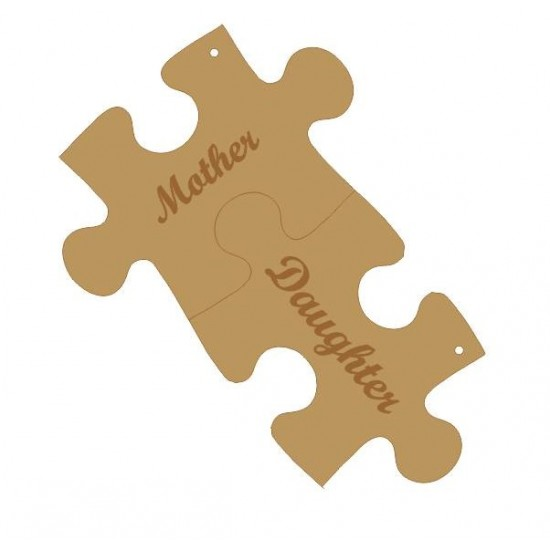 3mm MDF Interlocking Keyrings - Mother - Daughter Keys and Keyrings