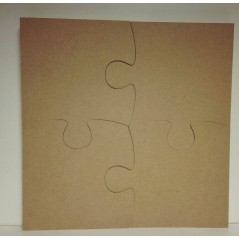 18mm Jigsaw Piece Set of 4 (200mm total height and width 200mm) 18mm MDF Craft Shapes
