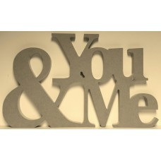 18mm You & Me Wedding Sign (30cm high) Valentines