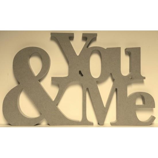 18mm You & Me Wedding Sign (30cm high)