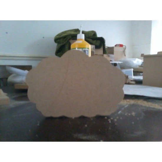 18mm Cloud 1 (by width) 18mm MDF Craft Shapes
