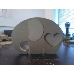 18mm Elephant photo frame 250mm high