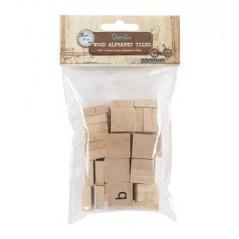 Decorative Wood Alphabet Tiles (Lower Case)