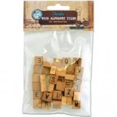 Decorative Mini Wood Alphabet Tiles