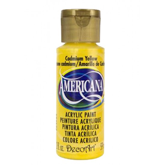 Decoart Americana Acrylic Paint - Cadmium Yellow 2oz Decoart Americana Acrylic Paints