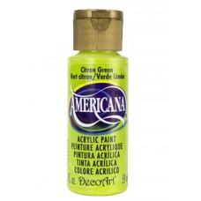 Decoart Americana Acrylic Paint -  Citron Green 2oz Decoart Americana Acrylic Paints