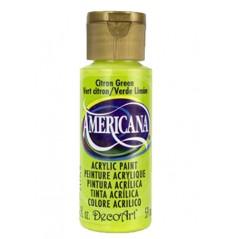 Decoart Americana Acrylic Paint -  Citron Green 2oz