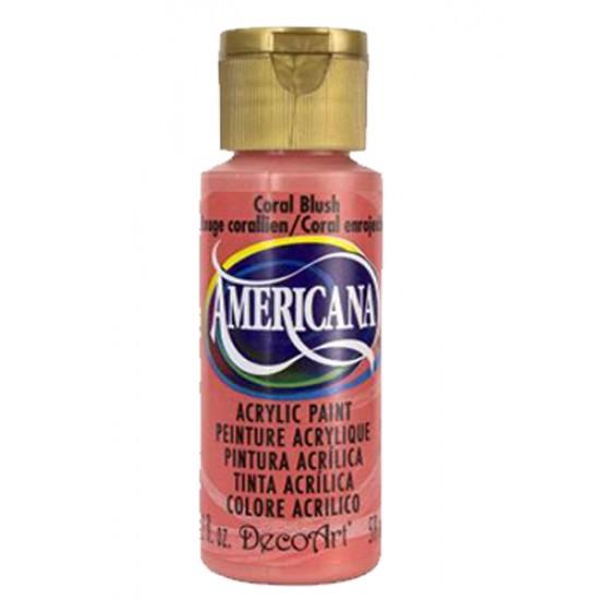 Decoart Americana Acrylic Paint -  Coral Blush 2oz Decoart Americana Acrylic Paints