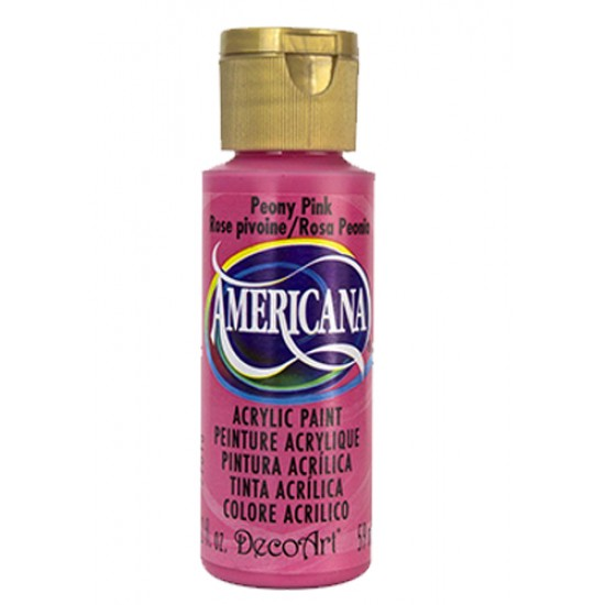 Decoart Americana Acrylic Paint -  Peony Pink 2oz Decoart Americana Acrylic Paints