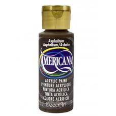 Decoart Americana Acrylic Paint -  Asphaltum 2oz Decoart Americana Acrylic Paints