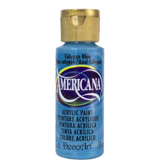 Decoart Americana Acrylic Paint - Calypso Blue 2oz Decoart Americana Acrylic Paints