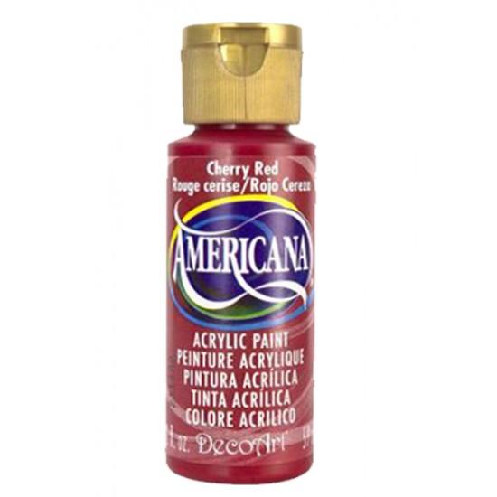 Decoart Americana Acrylic Paint - Cherry Red 2oz Decoart Americana Acrylic Paints