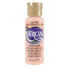 Decoart Americana Acrylic Paint -  Coral Shell 2oz Decoart Americana Acrylic Paints