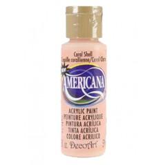 Decoart Americana Acrylic Paint -  Coral Shell 2oz