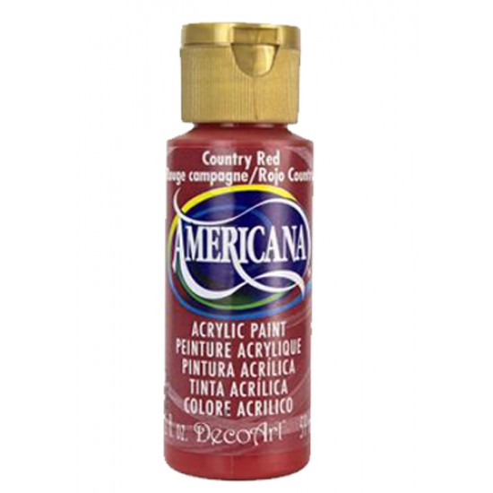 Decoart Americana Acrylic Paint - Country Red 2oz Decoart Americana Acrylic Paints