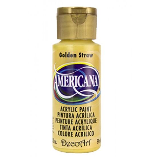Decoart Americana Acrylic Paint -  Golden Straw 2oz