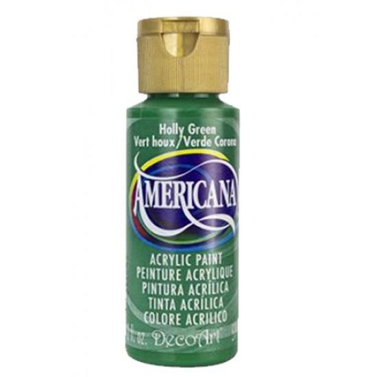 Decoart Americana Acrylic Paint - Holly Green 2oz Decoart Americana Acrylic Paints