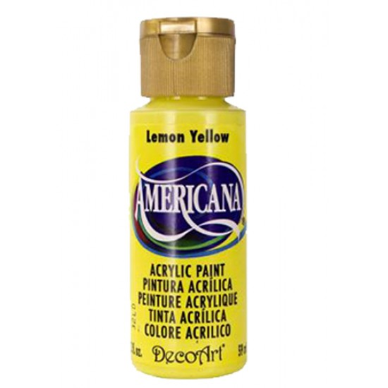 Decoart Americana Acrylic Paint - Lemon Yellow 2oz Decoart Americana Acrylic Paints