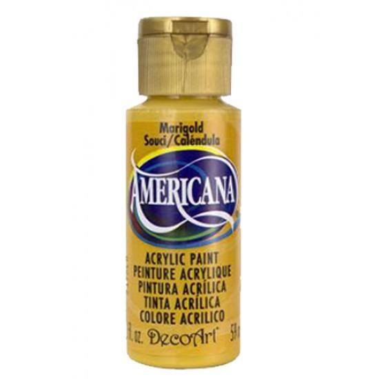 Decoart Americana Acrylic Paint - Marigold 2oz Decoart Americana Acrylic Paints