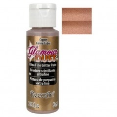 Decoart Glamour Dust Ultra Fine Glitter Paint - Copper 2oz