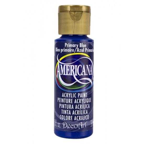 Decoart Americana Acrylic Paint -  Primary Blue 2oz