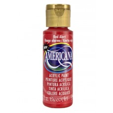 Decoart Americana Acrylic Paint -  Red Alert 2oz Decoart Americana Acrylic Paints
