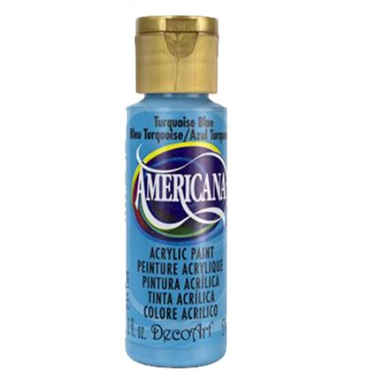 Decoart Americana Acrylic Paint - Turquoise Blue 2oz Decoart Americana Acrylic Paints