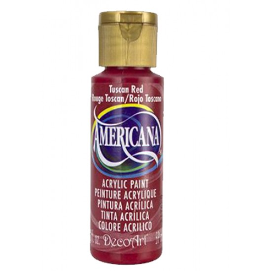 Decoart Americana Acrylic Paint - Tuscan Red 2oz Decoart Americana Acrylic Paints