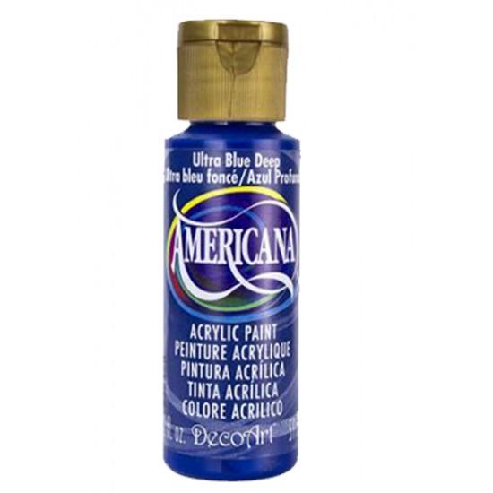 Decoart Americana Acrylic Paint - Ultra Deep Blue 2oz Decoart Americana Acrylic Paints