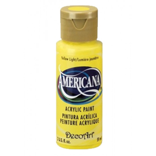 Decoart Americana Acrylic Paint -  Yellow light 2oz