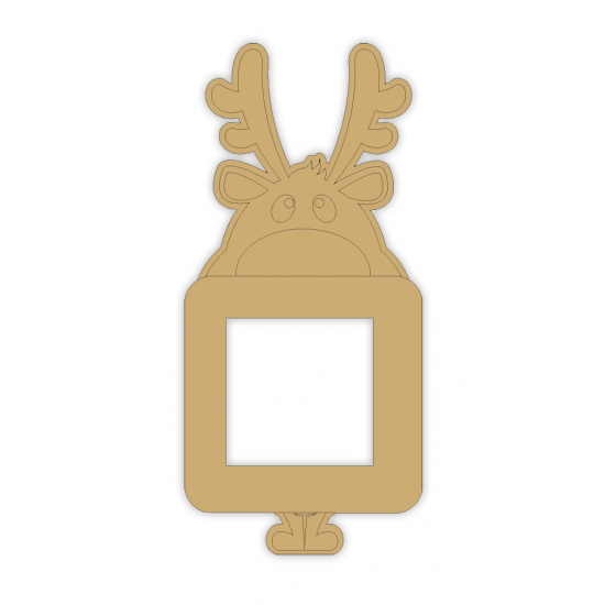 3mm MDF Mischievous Reindeer Light Switch Surround Christmas Shapes